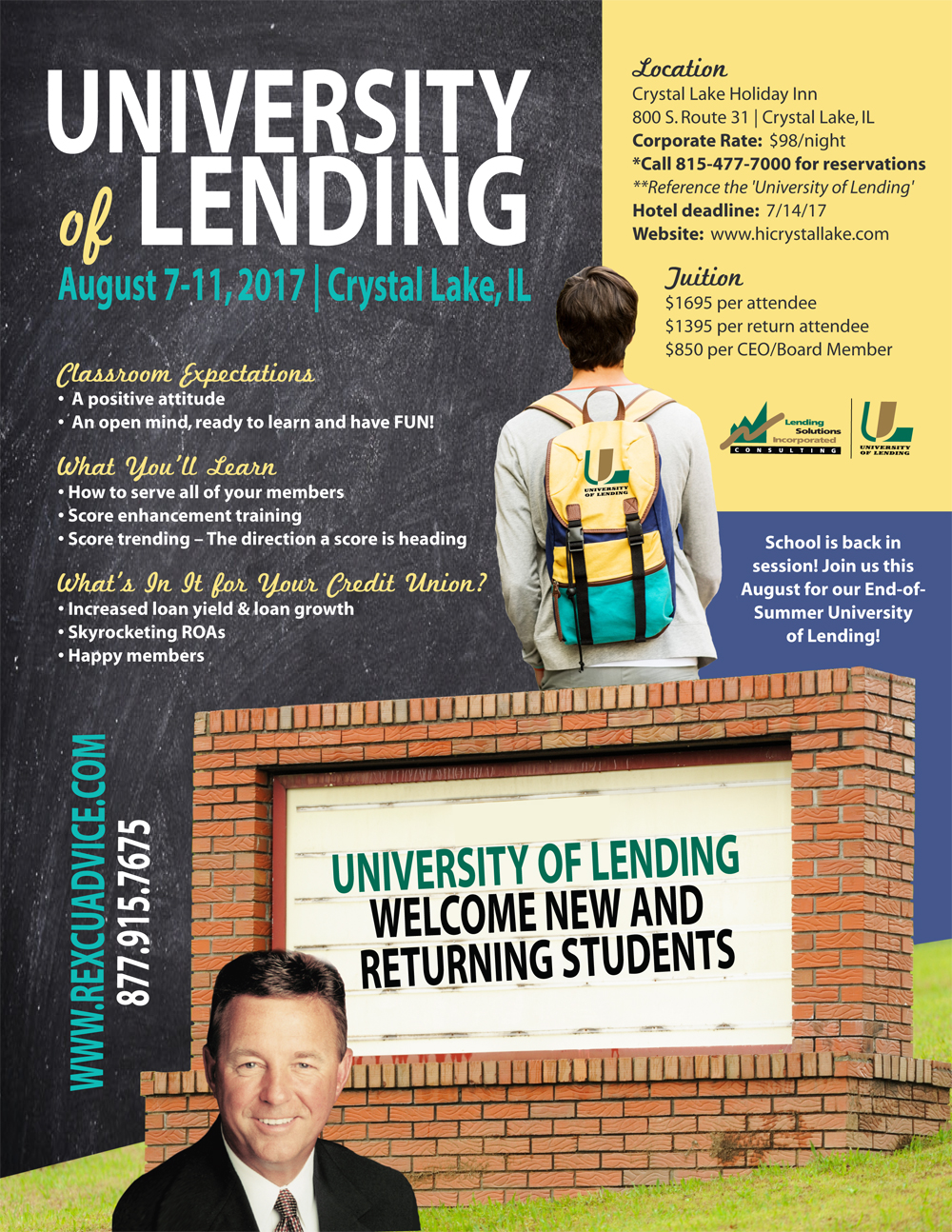 5-Day University of Lending - Crystal Lake, IL - August 7-11, 2017