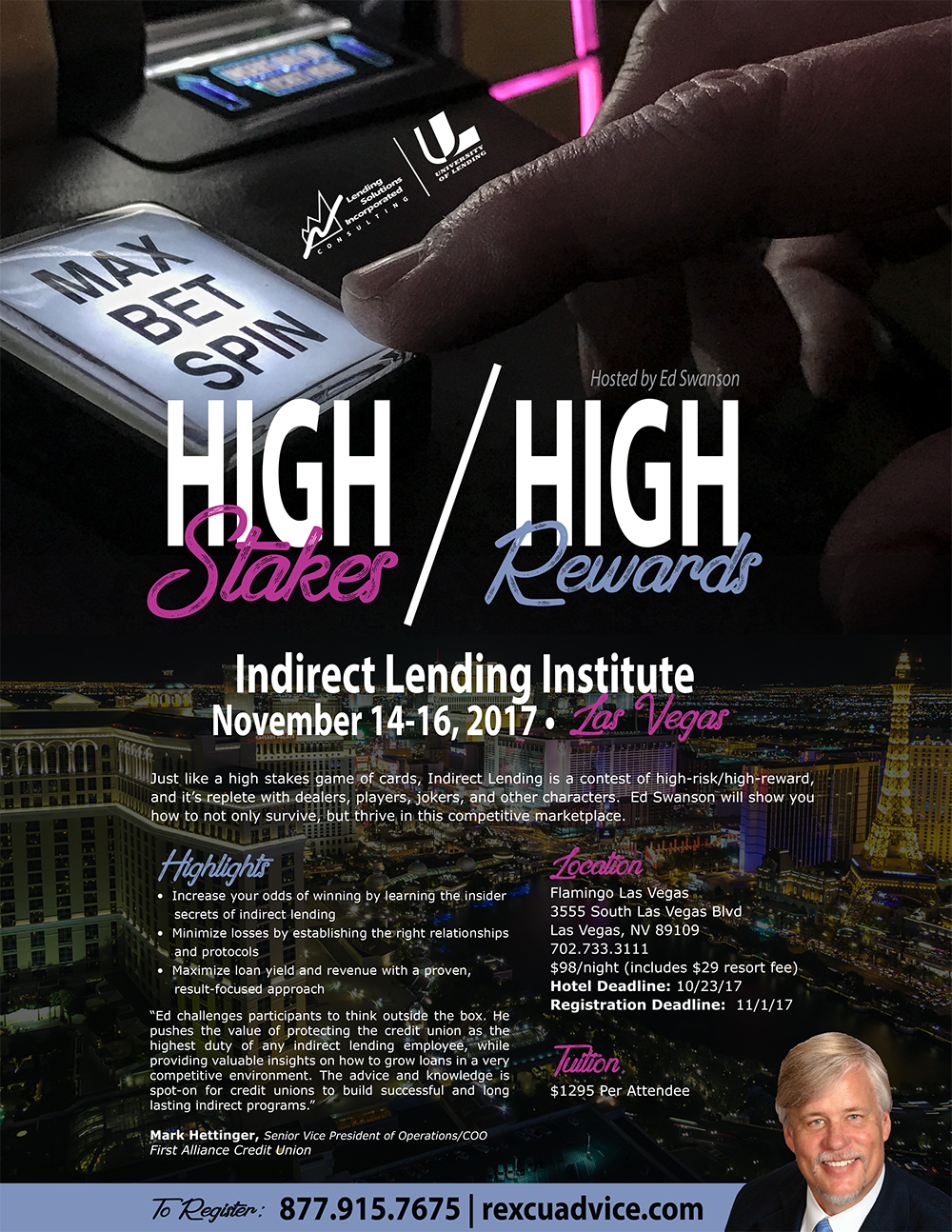 Indirect Lending Institute -  Las Vegas, NV - November 14-16, 2017