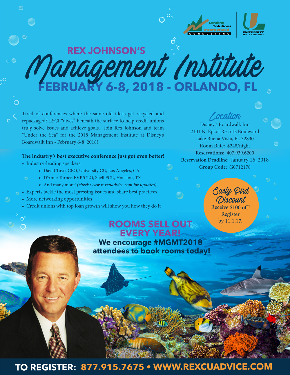 Management Institute for CEOs and Managers - Orlando, FL -  February 6-8, 2018