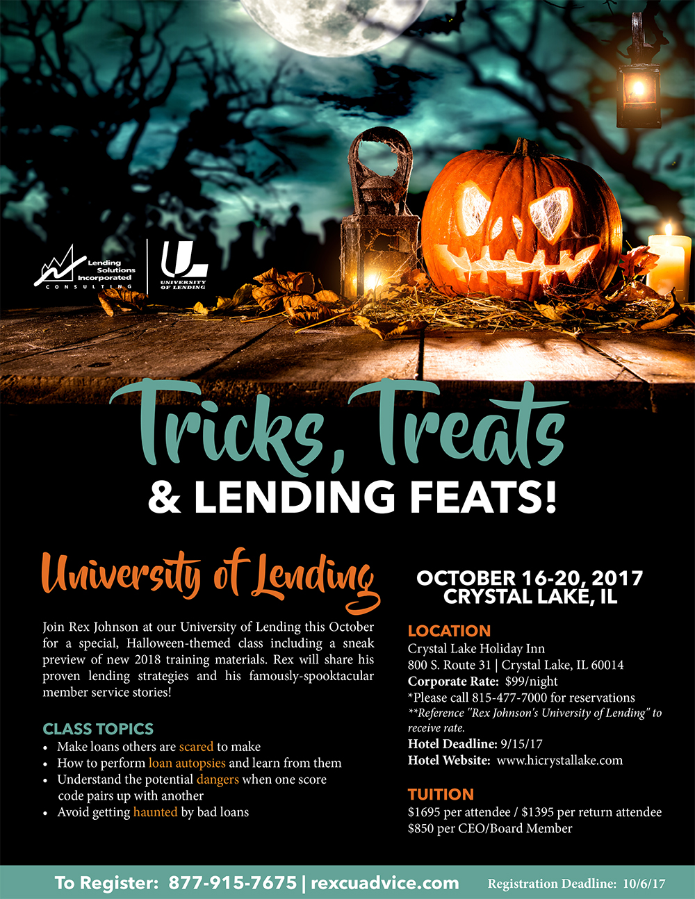 5-Day University of Lending - Crystal Lake, IL - October 16-20, 2017