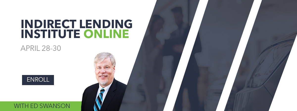 e-Indirect Lending Institute with Ed Swanson