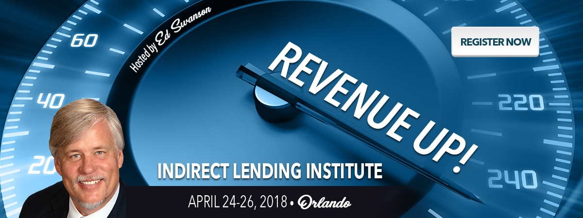 Indirect Lending Institute - Orlando, FL - April 24-26, 2018