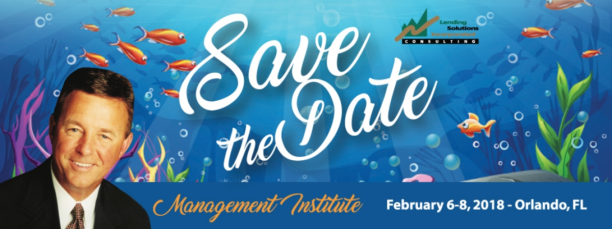 2018 Management Institute - Save the Date