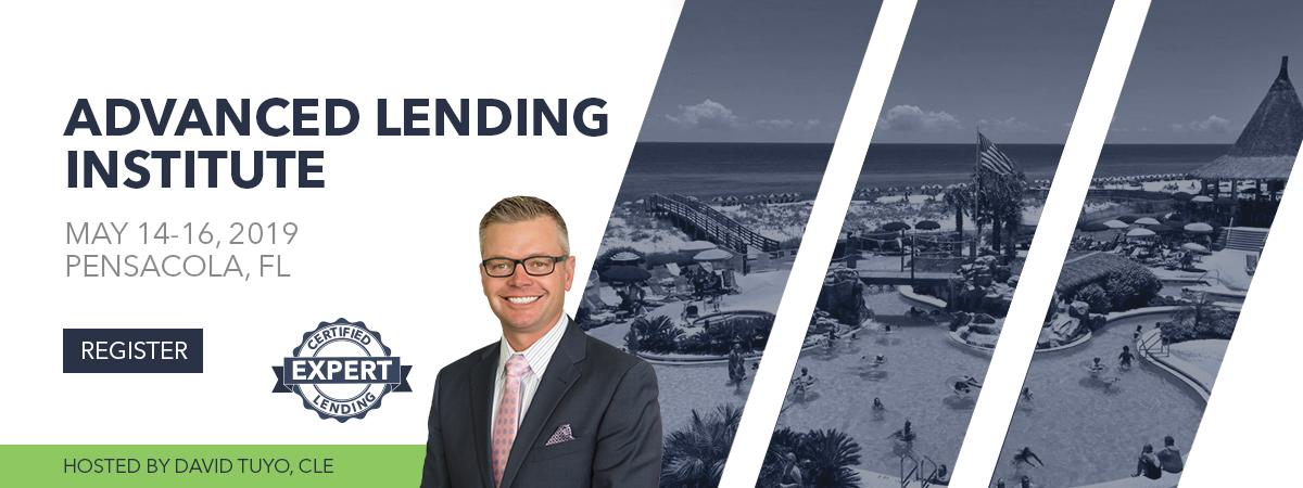 Advanced Lending Institute - Pensacola, FL - May 14-16, 2019