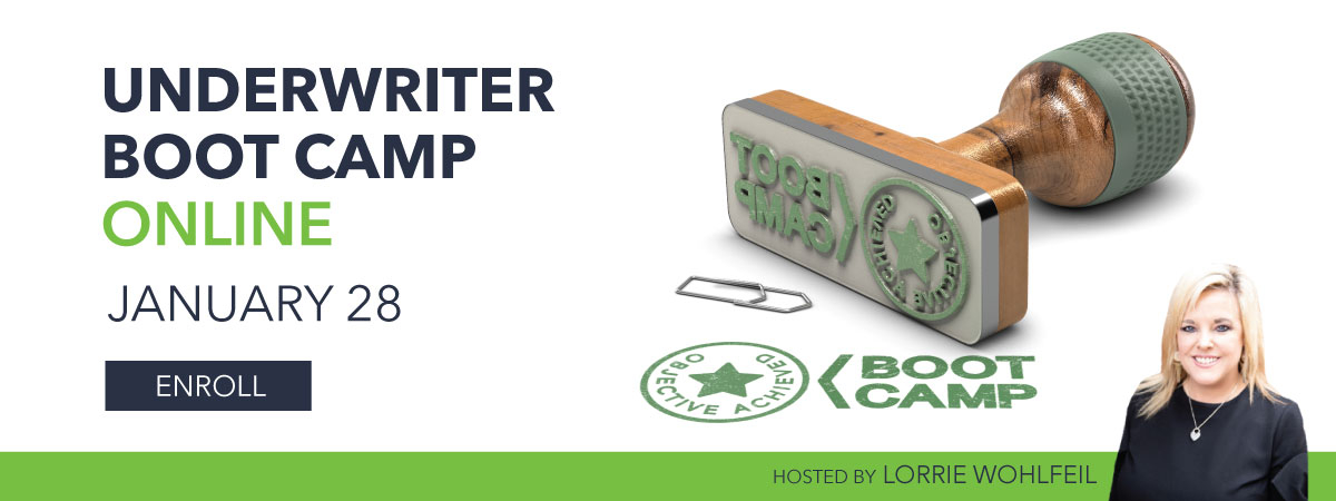 e-Underwriter Boot Camp - January 28, 2021