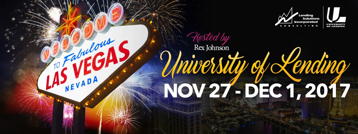 University of Lending November 27 - Dec 1 Las Vegas