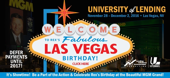 University of Lending Las Vegas November 28 - December 2 2016